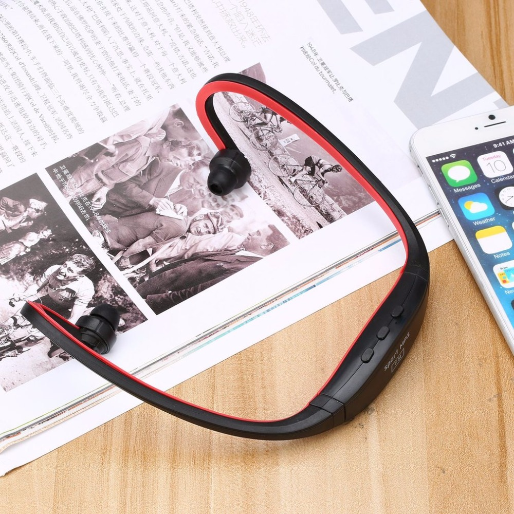 2GB Sports Professional Wireless Running Playing Outdroor Headphone MP3 Music Player Headset Headphone Earphone TF Card Slot