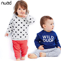 Spring Autumn Baby Girl Boy Clothes Set 2017 Brand Casual Clothing Sets For Toddler Kids Children Long Sleeve Outfits FF077