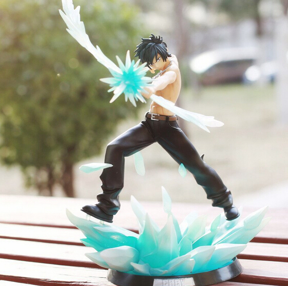2016 Japanese Anime Comic Fairy Tail Gray Fullbuster Ice Magic Super Freeze Arrow Grey Battle Style Figure Toys Brand New T3380 oreimo comic anthology