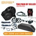 Bafang 8Fun BBS01 36V250W Bafang Central Motor Bafang BBS01 Kit de batería 36 V 13AH para conversión de bicicleta eléctrica Ebike kit de
