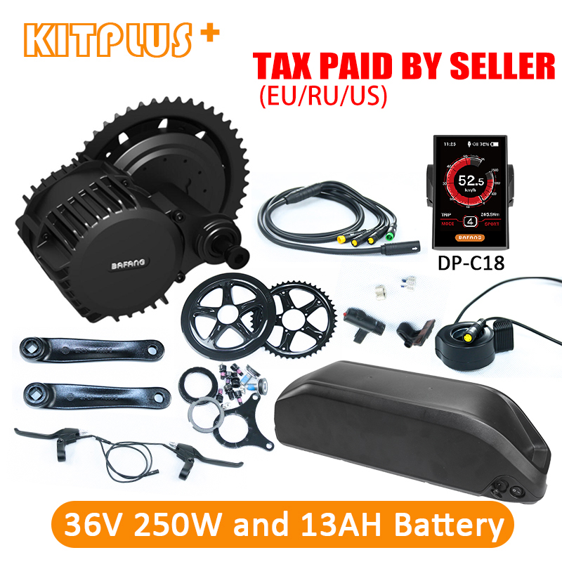 Bafang 8Fun BBS01 36V250W Bafang Central Motor Bafang BBS01 Kit with Battery 36V 13AH for Electric