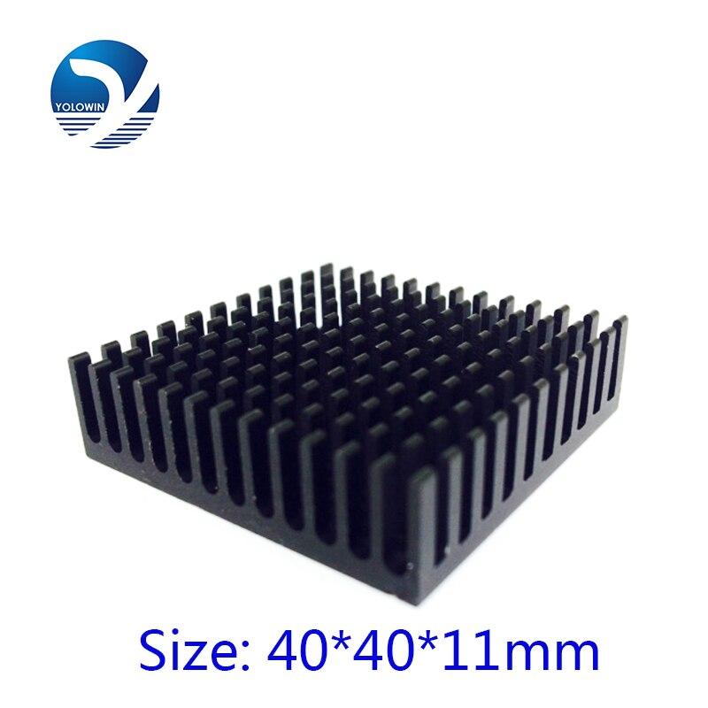 2Pcs 40*40*11mm Professional Desktop Heatsink Radiator Aluminum Heatsink Extruded Profile Heat Sink Electronic Heat Sink YL 0014-in Fans & Cooling from Computer & Office