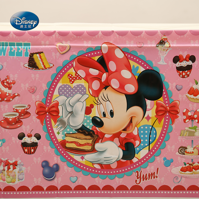 Disney Minnie Mouse Party Supplies Birthday Party Decoration Wedding Decoration Disposable Tablecloth 1.32x2.2M