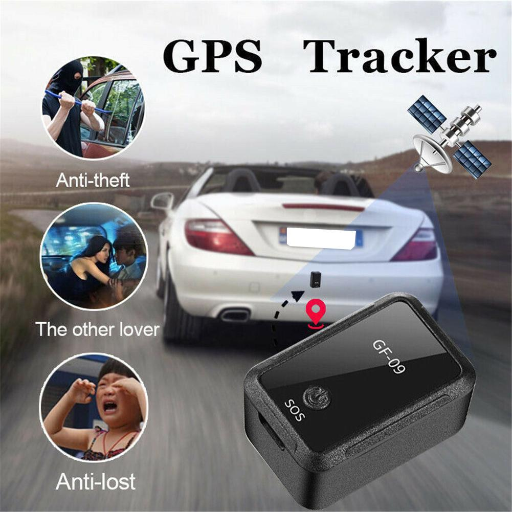 GF-09 Mini GPS Tracker 5V APP Remote Control Alarm SOS TF Anti-Theft Device Locator Magnetic Voice Recorder GPS Locator Tracker image