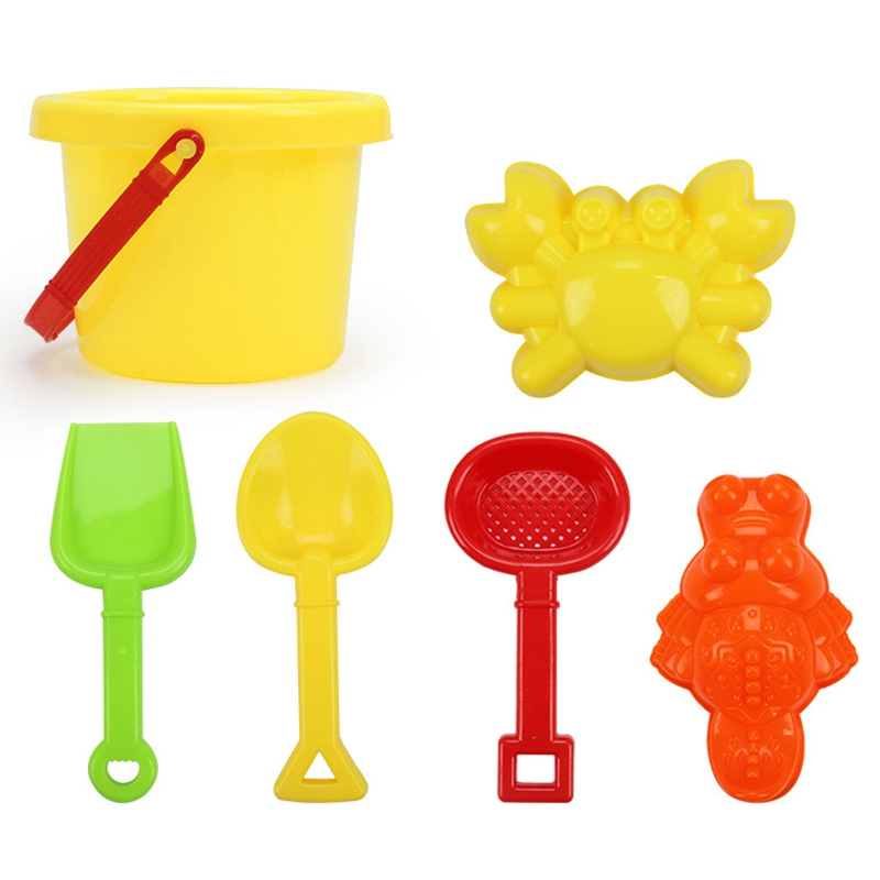 HOT SALE 6 Sets Children's Beach Toy Car Suit Baby Play With Sand Dug Tool