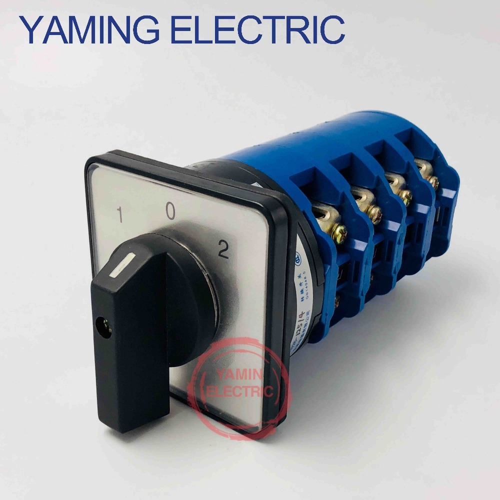 125A sliver point contacts LW26 125 4 High quality dc voltage automatic electrical changeover rotary cam