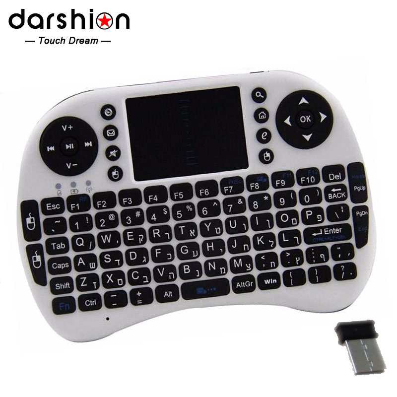 HEBREW keyboard Mini keyboard for PAD and mobile phone wireless USB 2 4G keyboard lithium battery