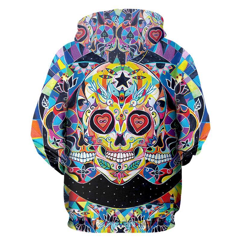 Jerwill Face Graph Hoodies New Arrivals Men Fashion 3D Print Skull Sweatshirt Casual Long Sleeve Hip Hop Pullovers Sweats Unisex