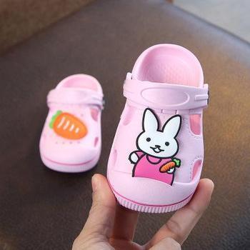 2-5y Kids Mules & Clogs Summer Baby Boys Girls Croc Sandals Flat Heels Rabbit Turnip Slippers Children's Garden Shoes Y17 - as picture, 26