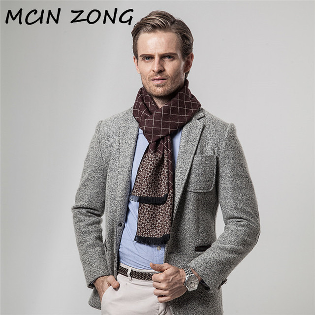 Châle épais en laine de cachemire | Écharpe pour hommes, hiver automne écharpe chaude en coton cachemire mélangé, écharpe brossée
