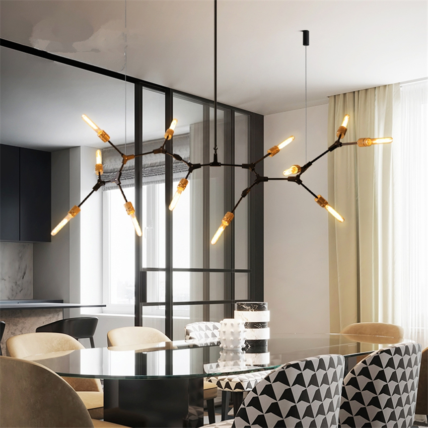 Beautiful American Industrial Branch Chandeliers Lights Living Room Modern Bedroom Hanging Lamps Restaurant Bar Table Retro Deco Fixtures Fancy Colours