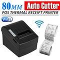DHL бесплатная Доставка Беспроводной Высокоскоростной 300 мм/Сек 80 мм POS тепловой термопечать Чековый Принтер с автом функции