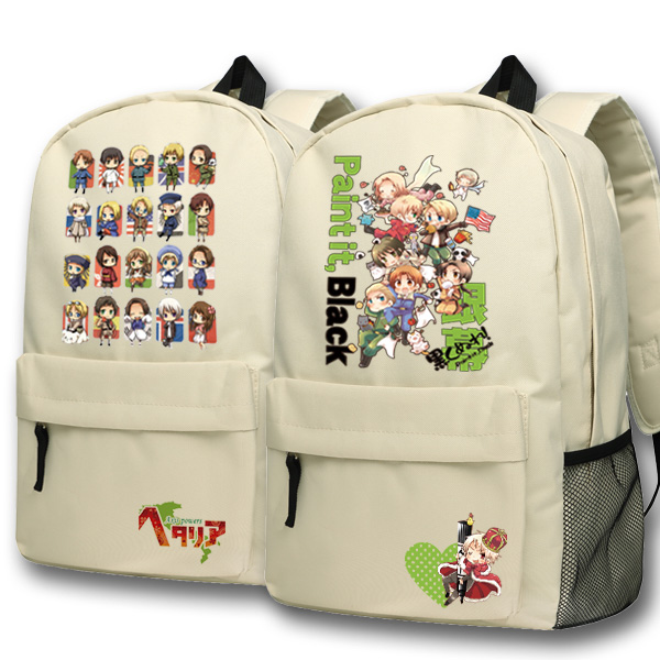 Anime Axis Powers Cosplay Feliciano Var backpack Anime cartoon campus high school primary school students bag shoulder bag backp anime lovelive cosplay minami kotori cos2017 new japanese male and female middle school students big picture shoulder bag