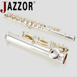 JAZZOR Flute JBFL-6248S C FLAT 16 closed hole white-copper Silver plated flute wind instrument