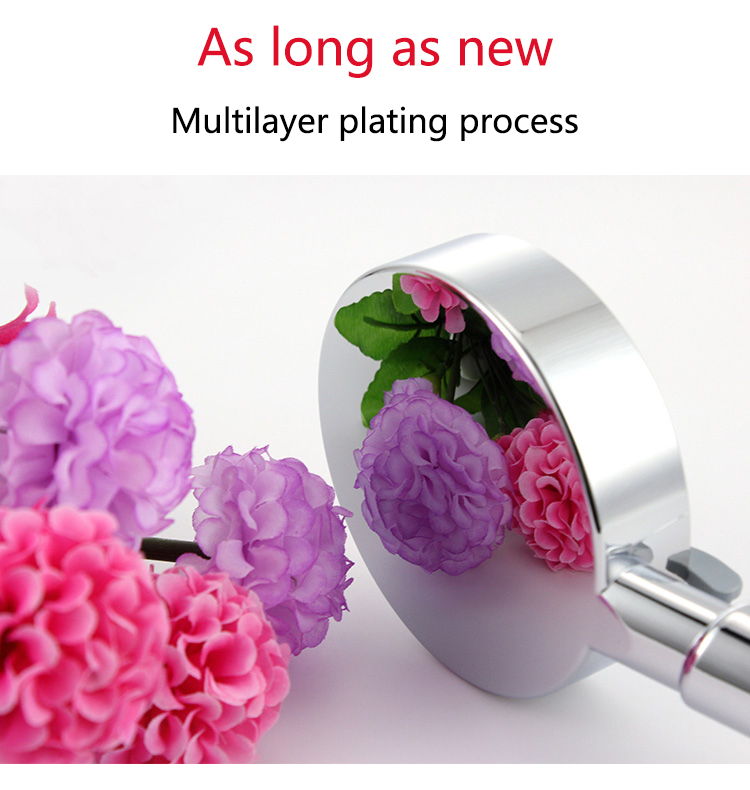 Zhang Ji многослойный гальванический пять функциональный ручной душ головка аксессуары для ванной комнаты Круглый ABS сопло фильтр душевая головка