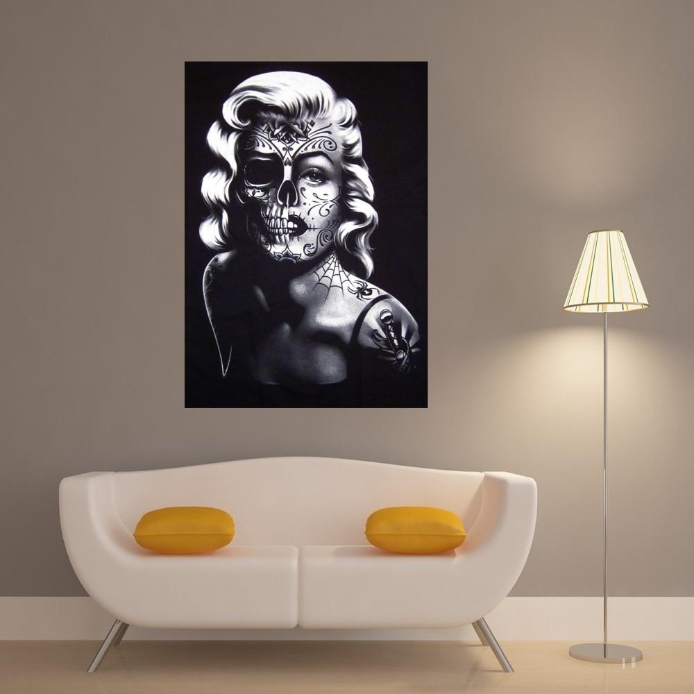 Deco Chambre Maryline Monroe €7.29 |crâne design marilyn monroe vintage art peinture toile affiche mur  décor maison chambre décoration soie tissu photos pas de cadre-in peinture