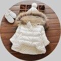 2017 Meninas Do Bebê Inverno Casaco de Lã da Pele Do Falso Partido Pageant Quente Jacket Xmas Snowsuit Bebê Outerwear Crianças Roupas