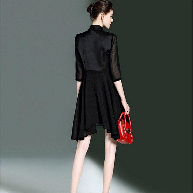 Manteau Black De Style Femmes 2017 Haute Printemps Bn2048 Dress Net Fil Nouveau Marchandises Réunissant Femme Qualité Jeunes Brodé tTwfqfgBS