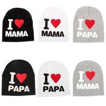 EFINNY Baby Kids Caps Children Cotton Hats Beanies Cap Toddler Boys Girls I love  Mom And 806c0c3c70d0