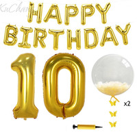 10 18 21 30 40 Happy Birthday Party Decoration Set 17 Letter 2pcs 40 Number Balloons