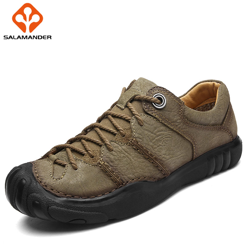 SALAMANDER Spring 2018 Hiking Shoes Man Brand Outdoor Athletic Tactical Mountaineering Mens Sneakers Hunting Trekking Climbing 2016 man women s brand hiking shoes climbing outdoor waterproof river trekking shoes