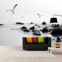 3D  Black And White Stone Modern Fashion Art