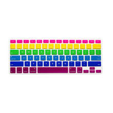 rainbow Skin Silicone Laptop Protector Keyboard Cover film Guard for Apple Macbook Pro Air Retina 13