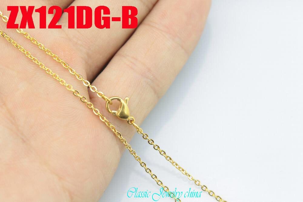Ոսկե գույնի չժանգոտվող պողպատե վզնոց - Նորաձև զարդեր - Լուսանկար 4