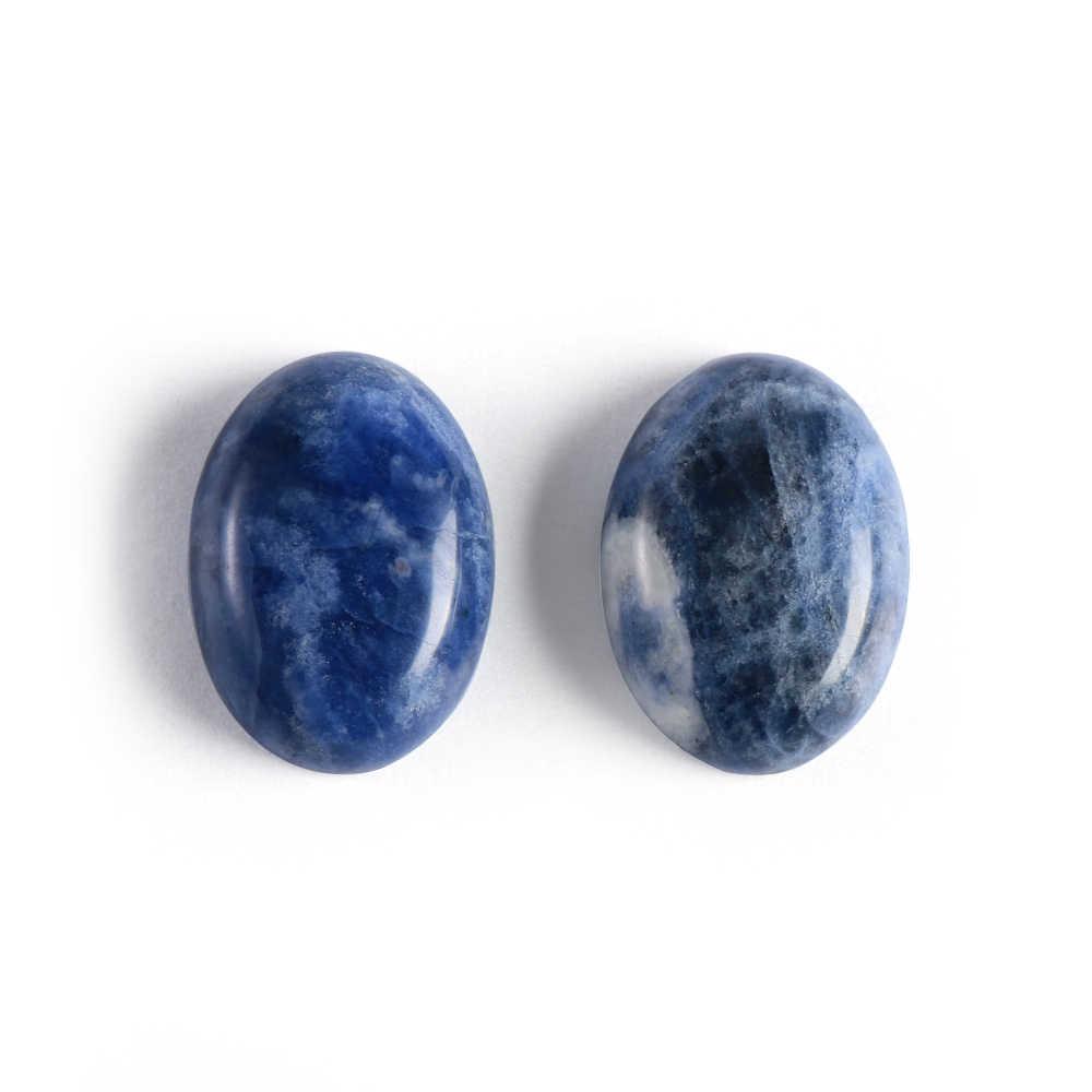 1Pc Natürliche Stein Sodalith Cabochon Perlen Oval CAB 13X18mm 30x40mm Semi-Wertvolle steine Fit Handgemachten Schmuck Frauen Männer Geschenke