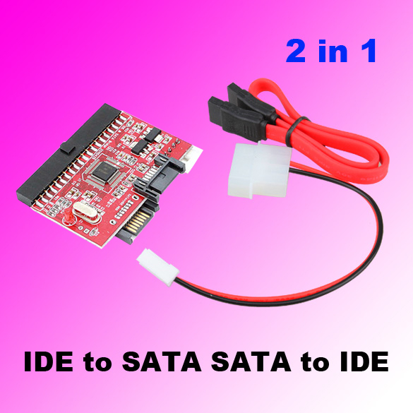 2 in 1 IDE to SATA Adapter/ SATA to IDE Converter Adapter for Computer
