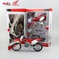 Maisto kid diy línea de montaje de automóviles de mini honda crf450r diecast metal modelo de la motocicleta de motocross deportes juguetes motor de regalos para niño