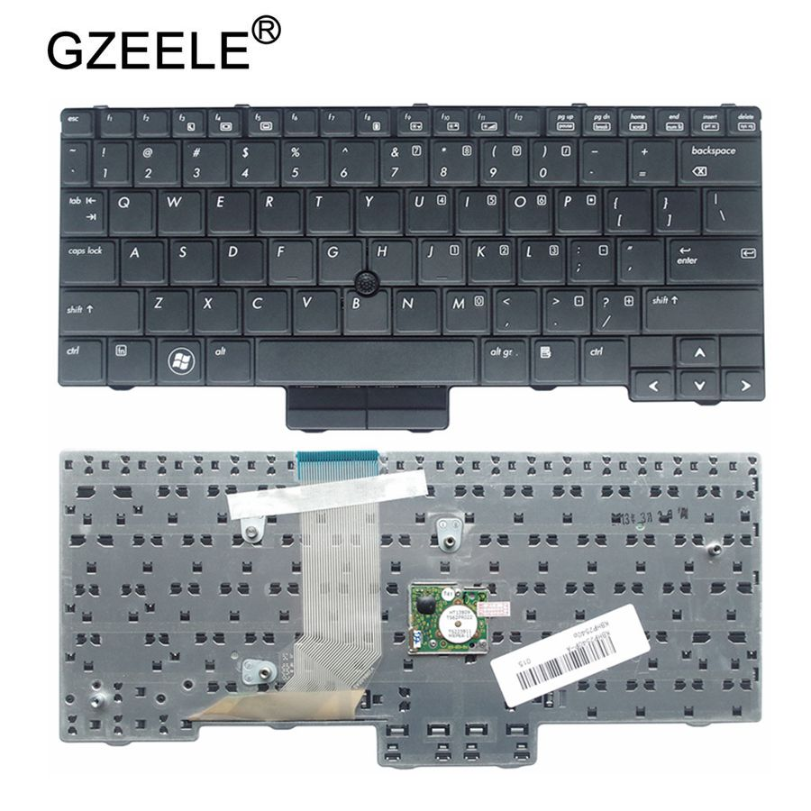 GZEELE NEW for HP EliteBook 2540P 2540 US Laptop Keyboard black