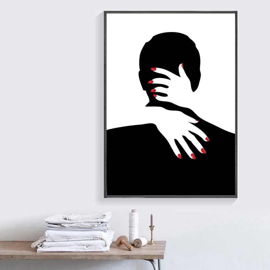 Hitam Putih Gambar Lukisan Dinding Art Poster Dan Cetakan Kanvas Lukisan Modern Gambar Dinding Untuk Ruang Tamu Home Decor