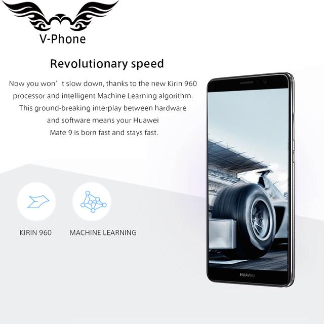 International Firmware Huawei Mate 9 Mobile Phone 4G LTE Octa Core 4GB RAM 64GB ROM 5.9″ Android 7.0 Fingerprint ID Dual Camera