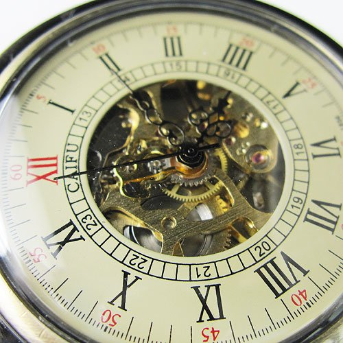 New Antique Jewel Bronze CAIFU Mechanical Pocket Watch Freeship