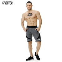 NEW Mens Shorts Calf Length Fitness Bodybuilding Fashion Casual Gyms Joggers Workout Crossfit Brand Short Pants