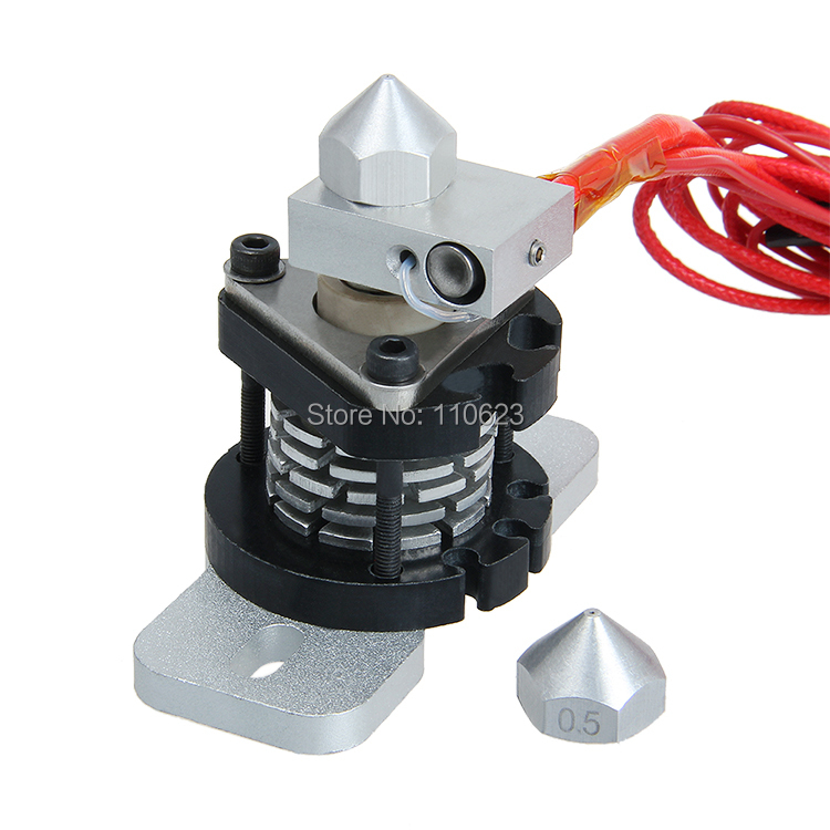 ФОТО Geeetech Reprap Hotend V2.0 for 3d printer extruder j-head hot end 0.3-1.75mm a 0.35mm nozzle freely