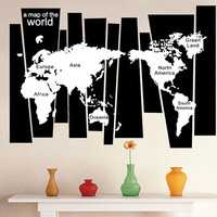World Trip Map Removable Vinyl Quote Art Wall Sticker Decal Mural Decor High Quality On Hot