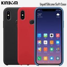KINBOM Colorful Silicone Soft Case for Xiaomi Redmi Note 5 6 7 Original cover Pro S2 4X Fiber lining back