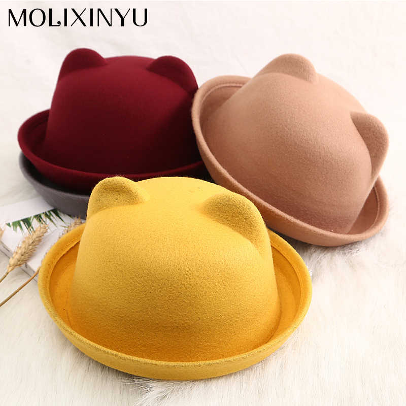 5d486b7c9e4 MOLIXINYU Children Sun Hat Beach Hat Autumn Winter Warm Kids Boys Girls  Vintage Cap Baby Girls