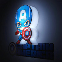 Marvel Action Figure Avengers กลางคืน Light Luster กัปตันอเมริกา Hulk Thor Iron Man ไฟ Luki LED เด็กกำแพงโคมไฟ