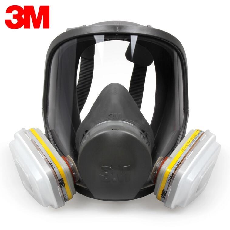 3M 6800+6057 Full Face  Mask Reusable Respirator Filter Mask Anti Dust/Organic gases/Chlorine 7 Items for 1 Set LT097 3m 6300 6003 half facepiece reusable respirator organic mask acid face mask organic vapor acid gas respirator lt091