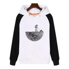 Astronaut mowing the moon printed Hoodies men women Sweatshirts Clothes Thick Fleece Clothing Tracksuit Sportswear GA415