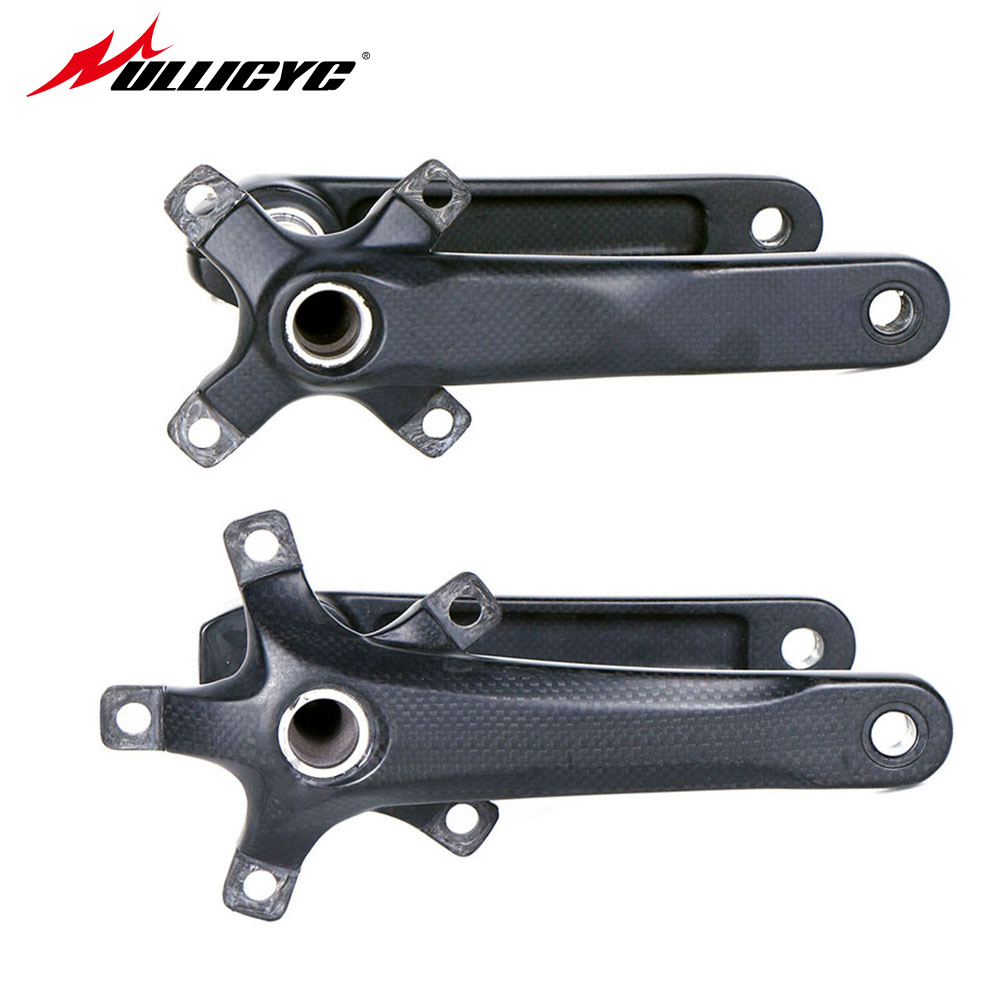 2017 New Ultra-light Carbon Fiber Bicycle Crank MTB Road Bike Crankset Mountain Bike Parts Length 170mm/175mm BCD 104/110/130mm new ak88 carbon fiber mountain road bicycle crank crankshaft set