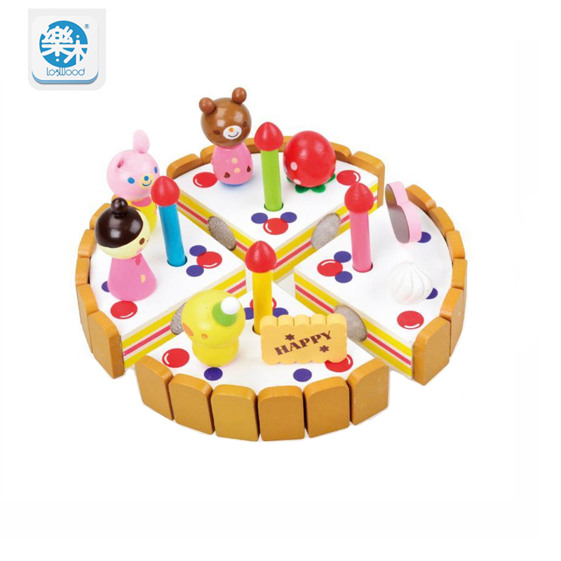 Logwood Wooden classic Kitchen toys pretend to play Cutting cake Fruits toys Cooking toys Kids <font><b>Birthday</b></font> gifts