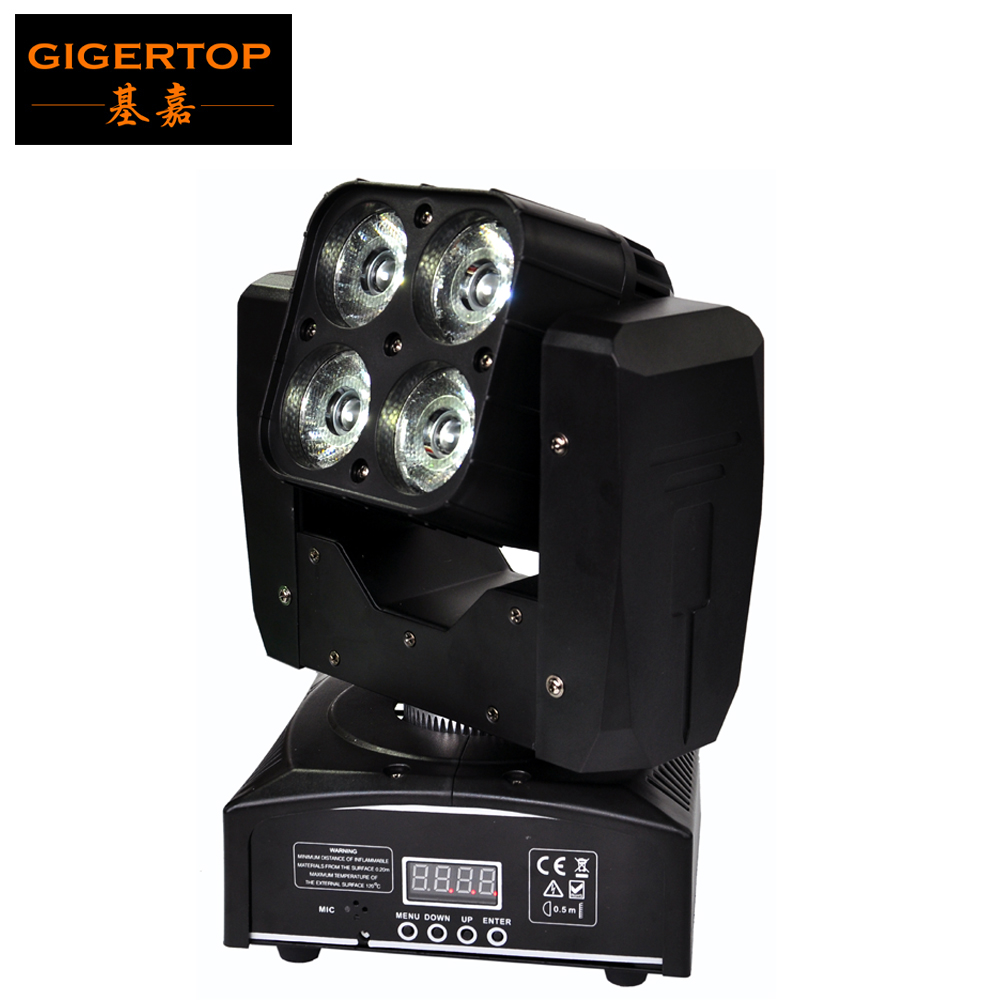 TOP Quality American TIPTOP LED 60W Mini Moving Head Light 60W RGBW Energy Efficient Wash Light DMX 14/21CH 4 X 15W Taiwan Leds energy efficient architecture