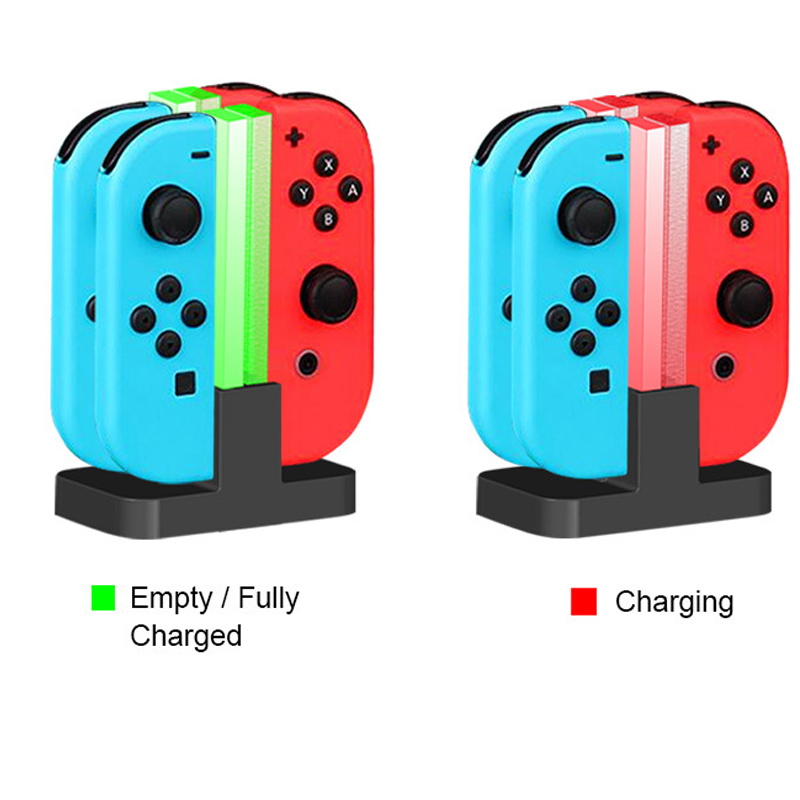 все цены на For Nintendo Switch NX Joy-con Nintend Switch Controller Storage 4 in 1 Led Charger Charging Dock Station Stand Holder Support
