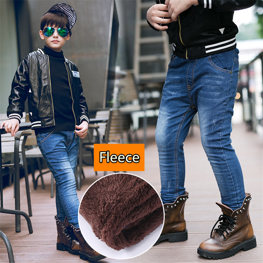 3-10 y winter pants for boys jeans denim pant fashion clothing boy warm jeans children elastic trousers 10 years casual pants стоимость