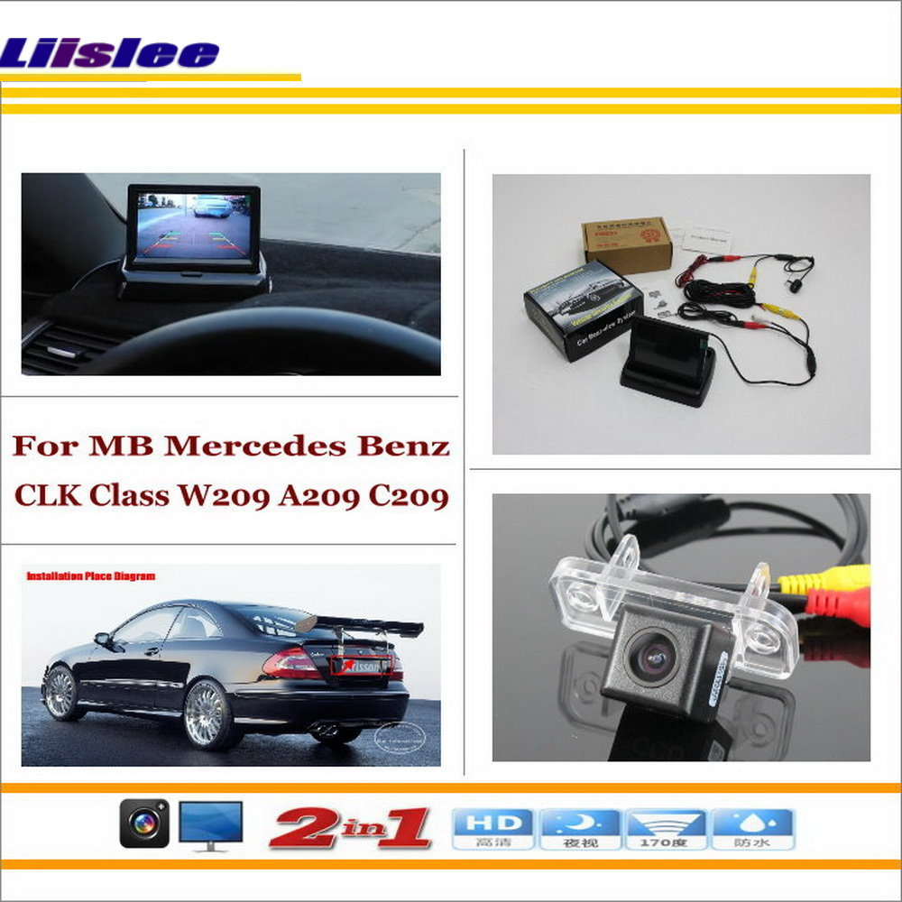US $42 59 20% OFF|Liislee For Mercedes Benz CLK Class W209 A209 C209 2002  Car Reverse Rear Camera + 4 3