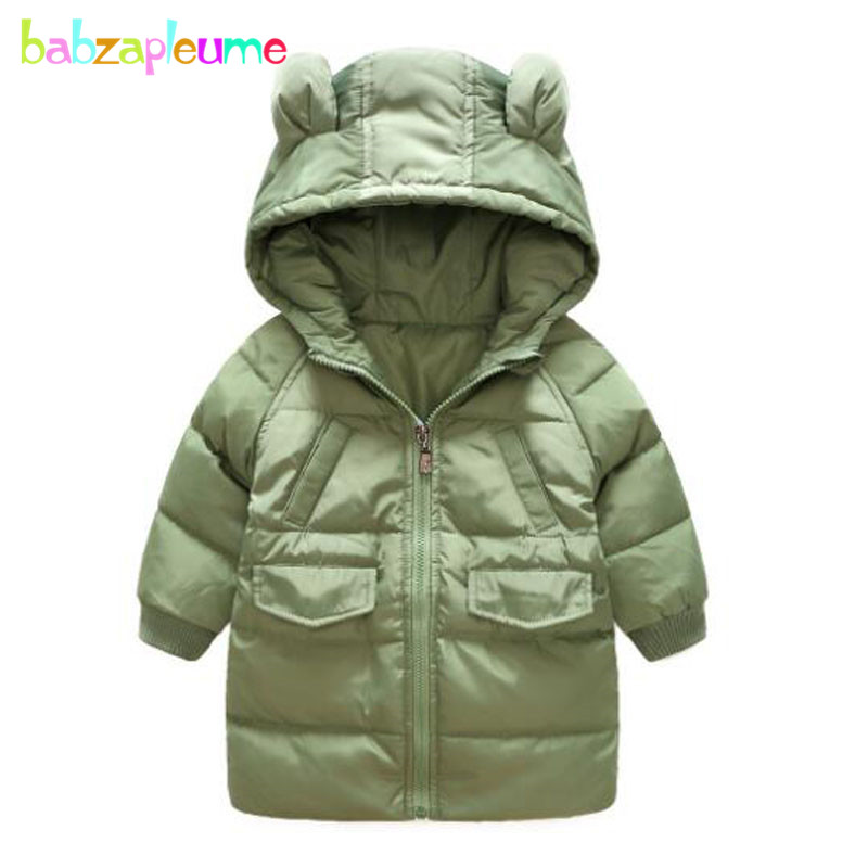 2-6Years/Autumn Winter Baby Boys Girls Down Jacket Cute Hooded Snowsuits Infant Coats For Kids Clothes Children Outerwear BC1544